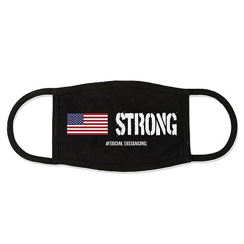 Adult USA Strong Face Mask Image #1