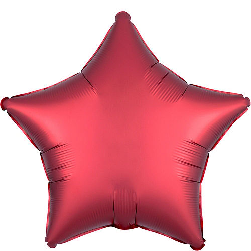 Red Star Balloon Bouquet, 19in, 12pc, with Helium Tank Image #2