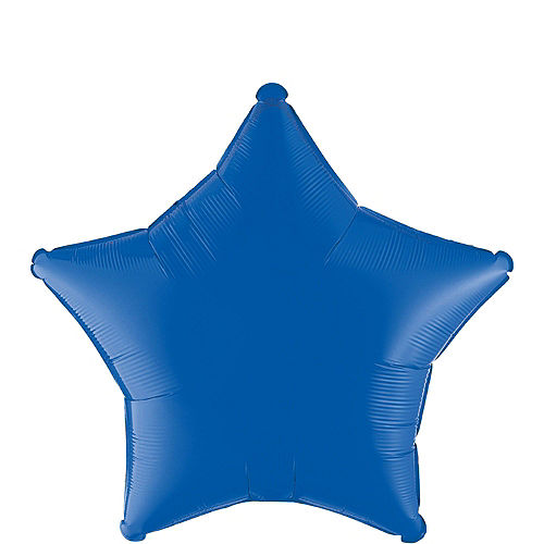 Blue Star Balloon Bouquet, 19in, 12pc, with Helium Tank Image #2