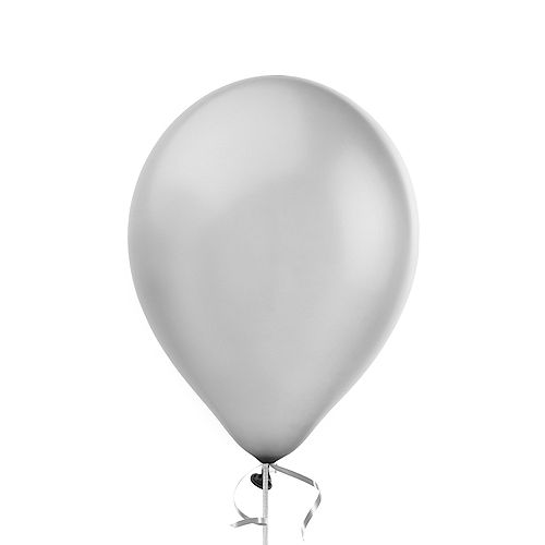 Silver Pearl Balloon, 12in, 1ct Image #1