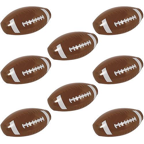 Mini Inflatable Footballs, 12ct Image #1