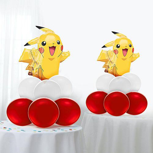 Air-Filled Pikachu Balloon Centerpiece Kit - Pokemon Image #1