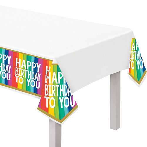 Rainbow Wishes Birthday Tableware Kit for 36 Guests Image #6