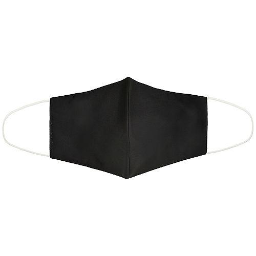 Adult Solid Black Face Mask Image #1
