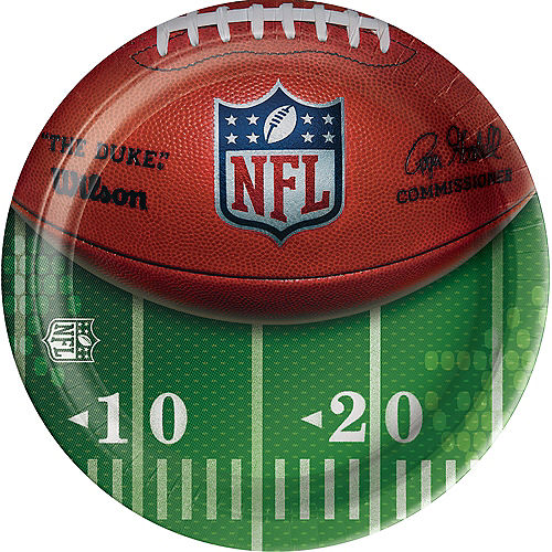 Silver Logo NFL Drive Paper Dinner Plates, 10in, 18ct Image #1
