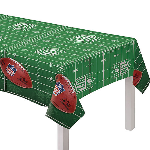 Silver Logo NFL Drive Plastic Table Cover, 54in x 96in Image #1