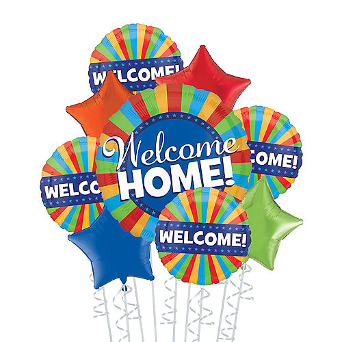 Multicolor Welcome Home Deluxe Balloon Bouquet, 9pc Image #1