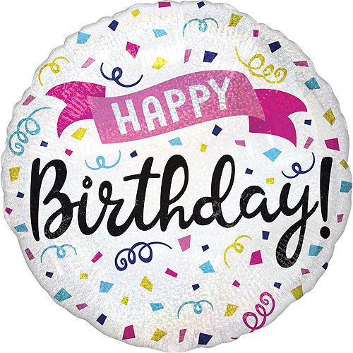 Prismatic Confetti Happy Birthday Deluxe Balloon Bouquet, 8pc Image #7