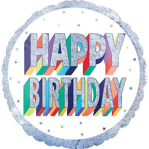 Prismatic Rainbow Happy Birthday Deluxe Balloon Bouquet, 9pc Image #3