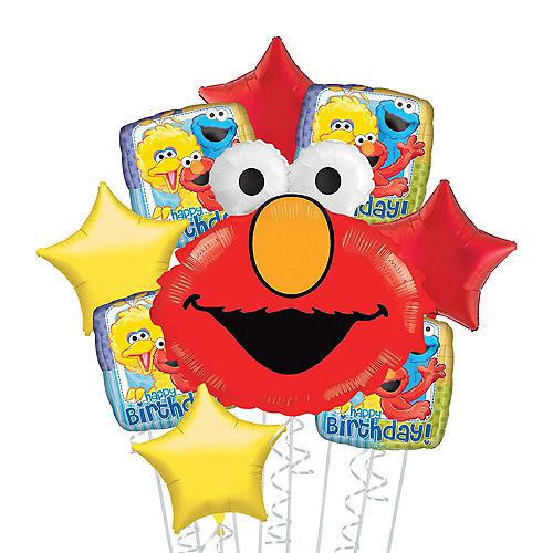 Elmo Deluxe Balloon Bouquet, 9pc Image #1