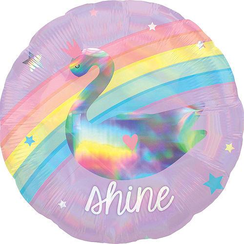 Iridescent Magical Rainbow Deluxe Balloon Bouquet, 9pc Image #4