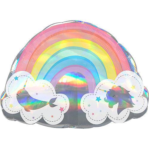 Iridescent Magical Rainbow Deluxe Balloon Bouquet, 9pc Image #5