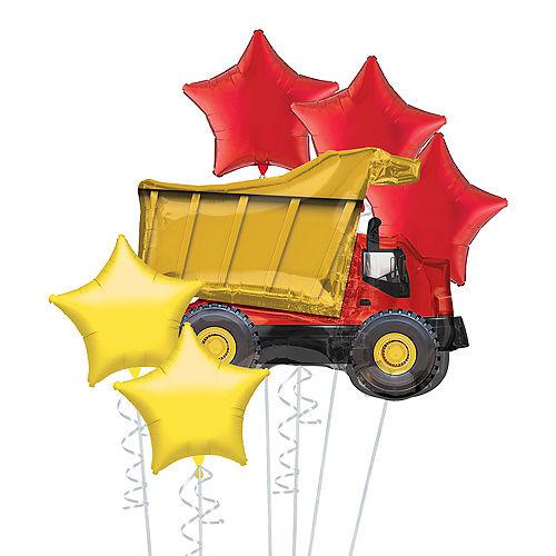 Dump Truck Deluxe Balloon Bouquet, 6pc Image #1