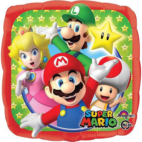 Super Mario Deluxe Airwalker Balloon Bouquet, 9pc Image #3