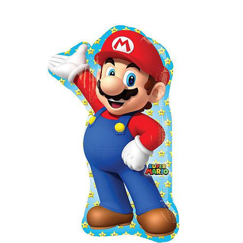 Super Mario Deluxe Airwalker Balloon Bouquet, 9pc Image #4