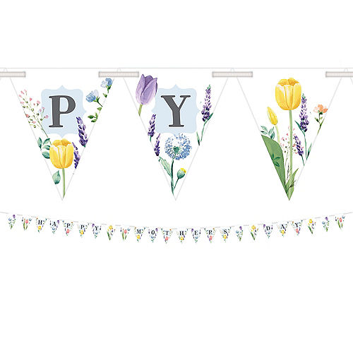 Floral Mother's Day Pennant Banner Image #1