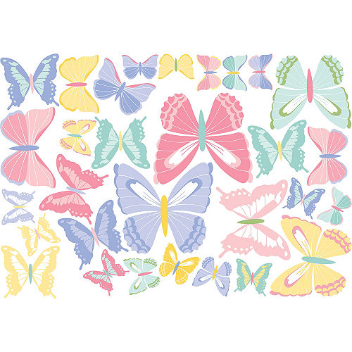 Pastel Butterfly Cutouts 30ct Image #1