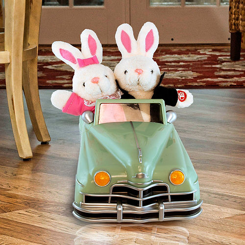 Animated Easter Bunny Convertible Car Image #1