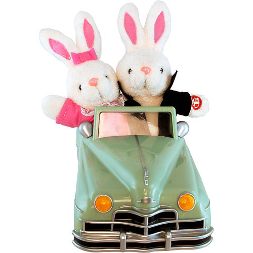 Animated Easter Bunny Convertible Car Image #2