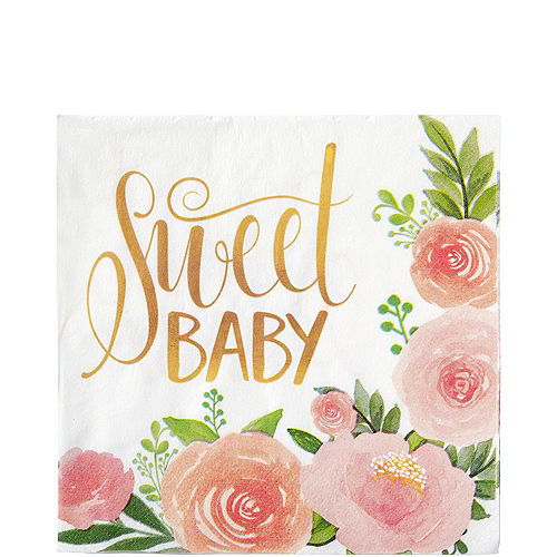 Floral Baby Tableware Kit for 16 Guests Image #5