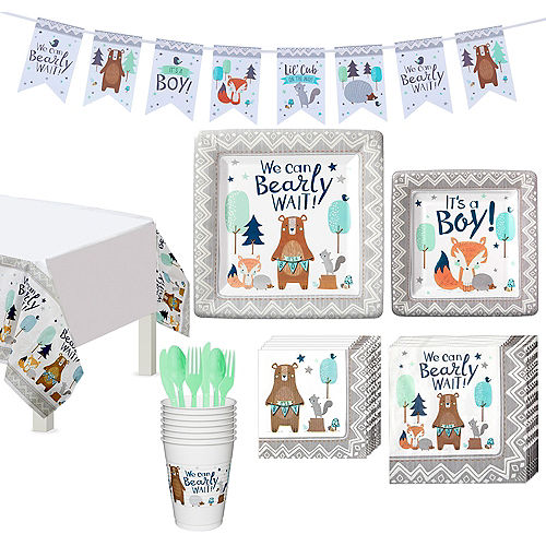 Can Bearly Wait Baby Shower Tableware Kit for 8 Guests Image #1