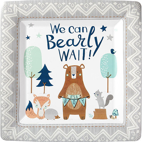 Can Bearly Wait Baby Shower Tableware Kit for 8 Guests Image #3