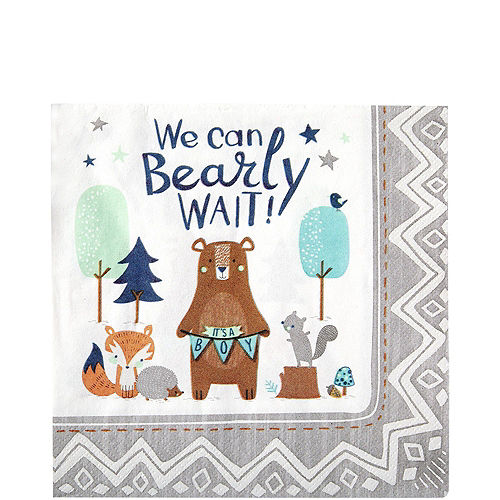 Can Bearly Wait Baby Shower Tableware Kit for 8 Guests Image #5