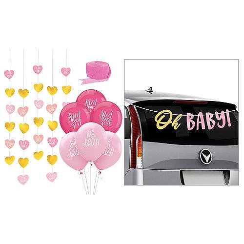 Pink Baby Shower Car Decorating Kit Image #1
