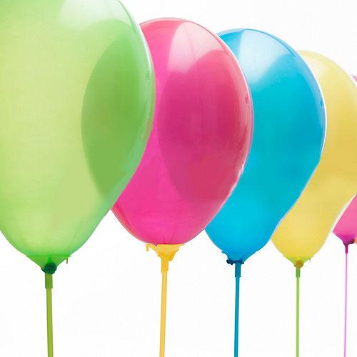 Multicolor Balloon Cups & Sticks, 8ct Image #2