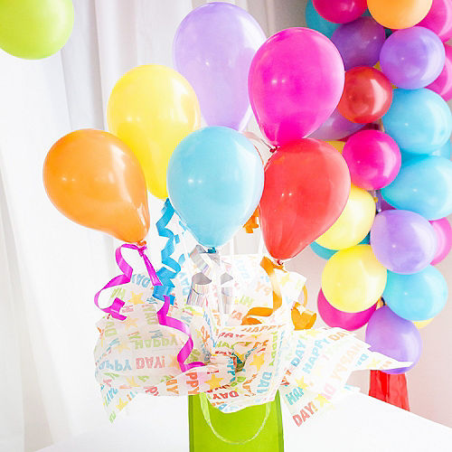 Multicolor Balloon Cups & Sticks, 8ct Image #5