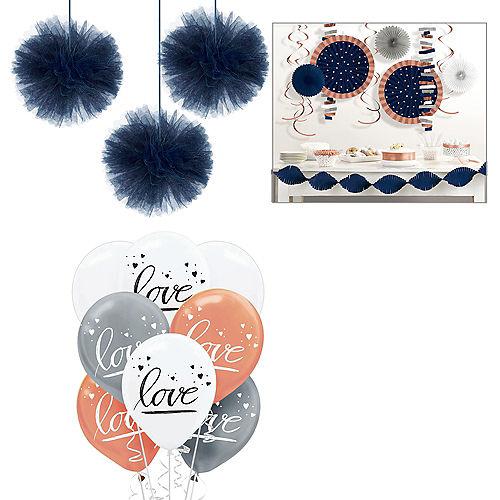 Metallic Navy Love Decorating Kit Image #1