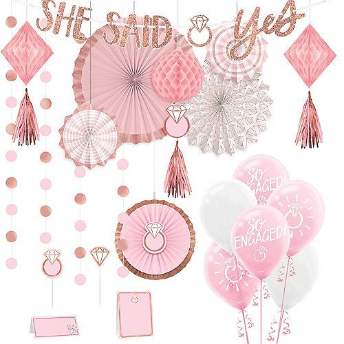Blush & Rose Gold Bachelorette Party Decorating Kit Image #1