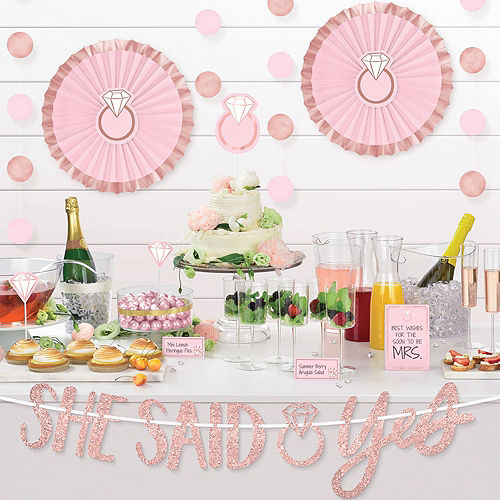 Blush & Rose Gold Bachelorette Party Decorating Kit Image #5