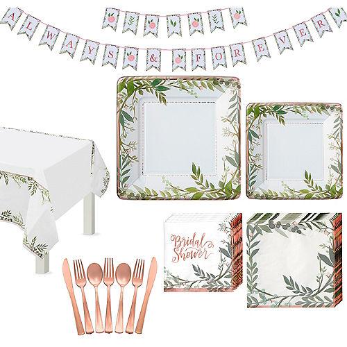 Floral Greenery Wedding Tableware Kit for 8 Guests Image #1