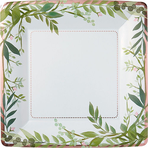 Floral Greenery Wedding Tableware Kit for 8 Guests Image #3