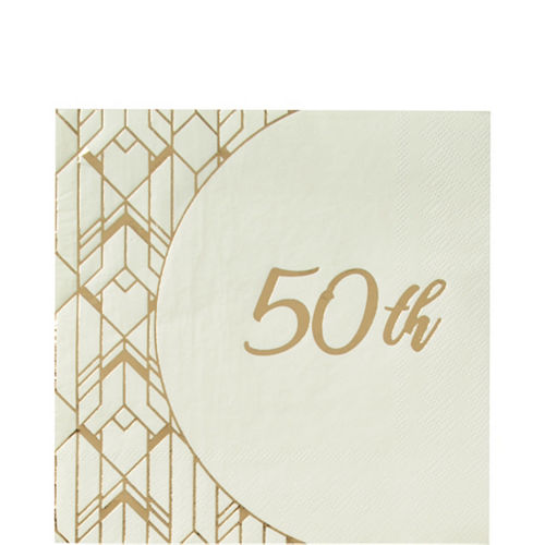 Gold 50th Anniversary Tableware Kit for 16 Guests Image #3