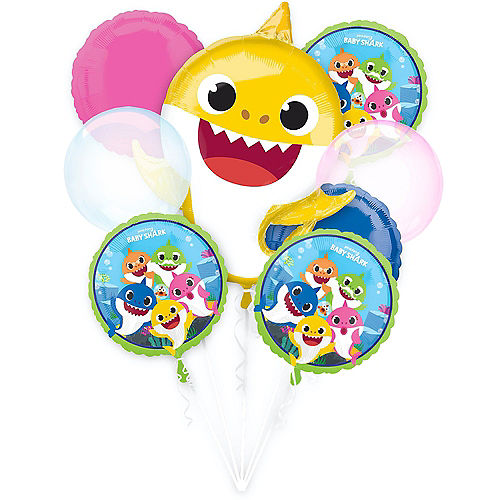 Baby Shark Deluxe Balloon Bouquet, 8pc Image #1