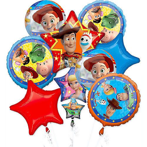 Toy Story 4 Deluxe Balloon Bouquet, 8pc Image #1