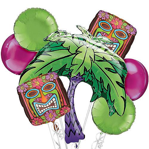 Tiki Time Balloon Bouquet, 7pc Image #1