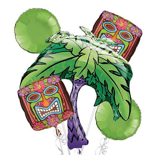 Tiki Time Balloon Bouquet, 7pc Image #2