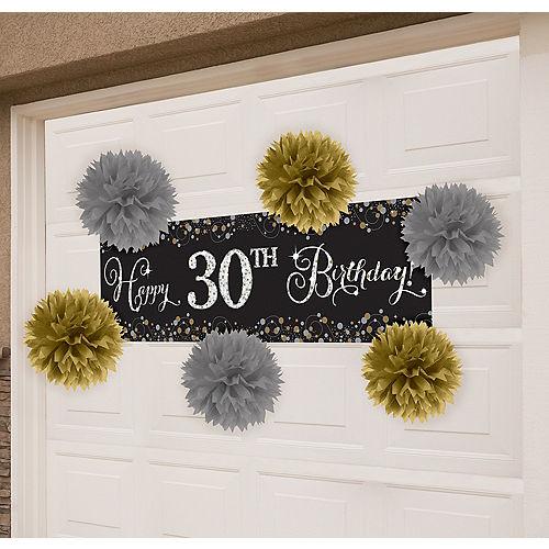 Gold & Silver Sparkling Celebration Garage Decorating Kit Image #1