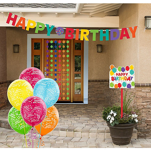 Rainbow Birthday Yard Decorating Kit Image #1