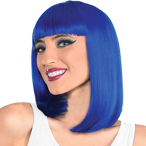 Blue Long Bob Wig Image #1