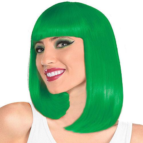 Green Long Bob Wig Image #1