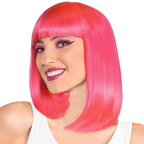 Pink Long Bob Wig Image #1