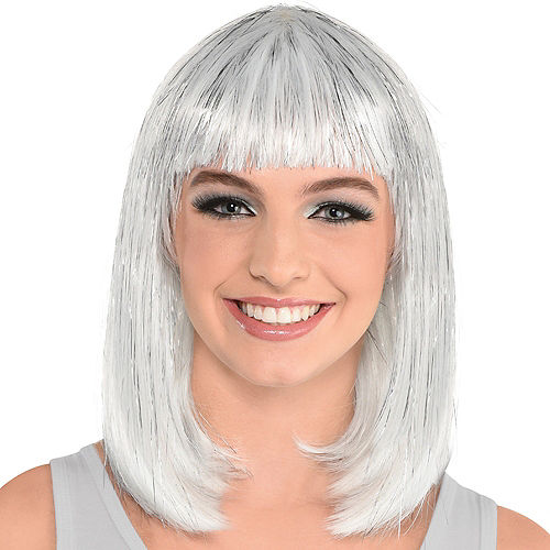 Silver Long Bob Wig Image #1
