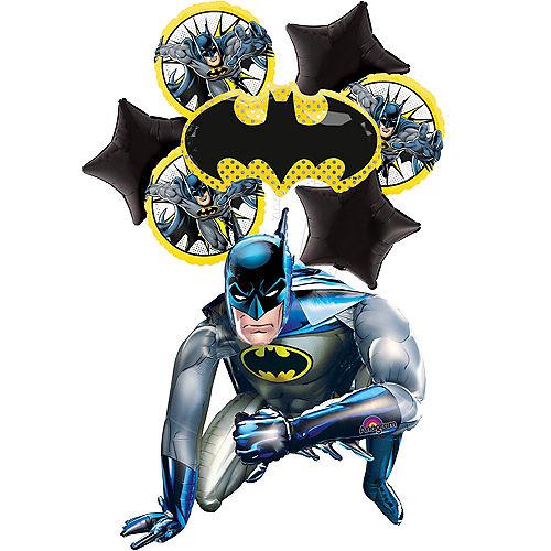 Comic Batman Deluxe Airwalker Balloon Bouquet, 8pc Image #1