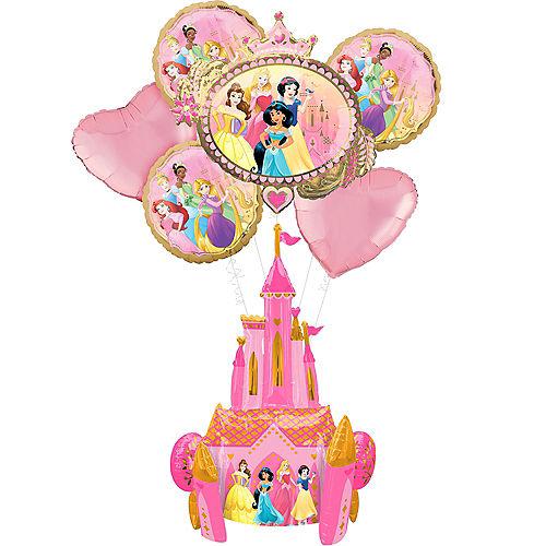 Disney Princess Deluxe Airwalker Balloon Bouquet, 7pc Image #1