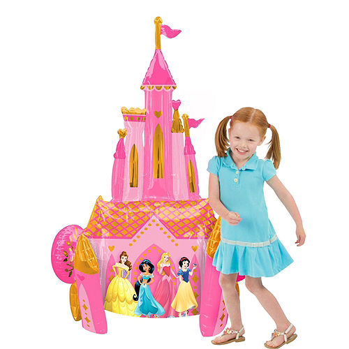Disney Princess Deluxe Airwalker Balloon Bouquet, 7pc Image #3