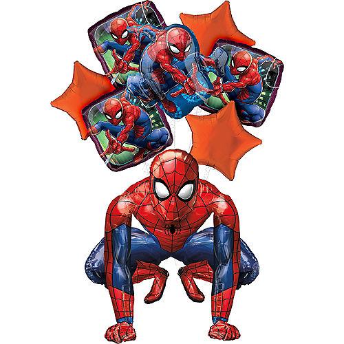 Spider-Man Deluxe Airwalker Balloon Bouquet, 8pc Image #1